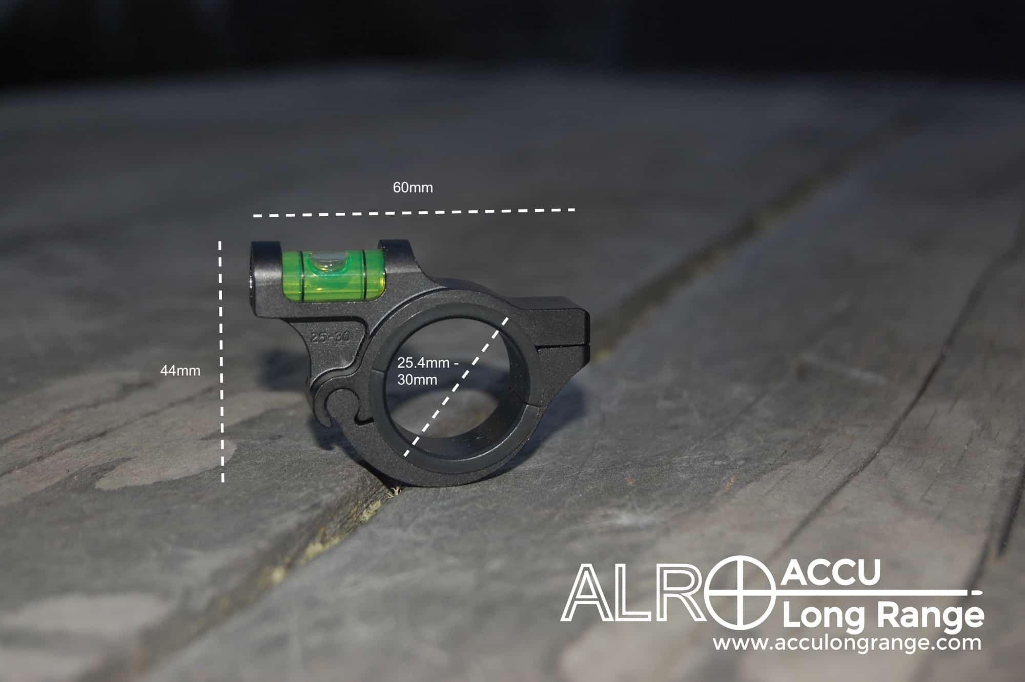 Anti Cant Device//Level For 30mm Scope Tube Silver