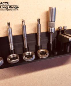 Accu long range Lee reloading case trim / lock stud case length gauge & shell holder organiser